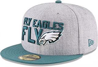 New Era Philadelphia Eagles 2018 NFL Draft Official On-Stage 59FIFTY Fitted Hat - Heather Grey