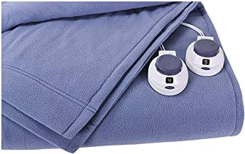 SoftHeat by Perfect Fit | Luxury Fleece Electric Heated Blanket with Safe & Warm Low-Voltage Technology (Full, Slate Blue)