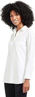 J.McLaughlin Womens Long Sleeve Arlo Tunic in White