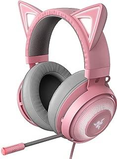Razer Kraken Kitty Quartz Pink ゲーミングヘッドセット USB THX7.1 ネコミミ Chroma ノイズキャンセリングマイク 冷却ジェルパッド【日本正規代理店保証品】 RZ04-02980200-R3M1
