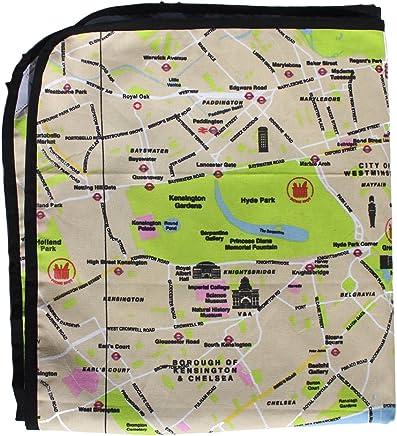 Große Picknickdecke - Karte von London Design B079VNX9SH | Verschiedene