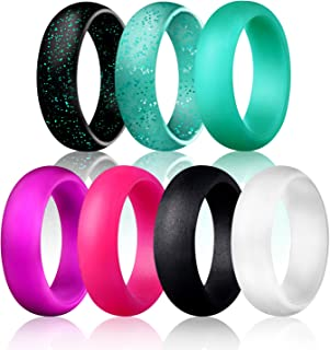 Egnaro Silicone Wedding Ring for Women,Rubber Rings,Comfortable fit,No-Toxic,Skin Safe