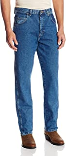 Wrangler Men's Relaxed Fit 耐磨损休闲牛仔裤rugged Wear-Jeans