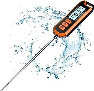 "Cocoda Thermometre Cuisine, Lecture Instantanée Thermometre Cuisson avec 5.6"" Sonde Ultra-Longue, Rétroéclairage LCD, Ther..."
