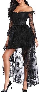 SLIMBELLE Donna Bustino Pizzo Vestito Corsetto Stringivita Modellante Dimagrante Steampunk Sexy Bustini Corsetti Eleganti ...