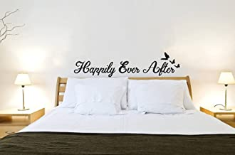 Rawpockets 'Happily Ever After Quote' Wall Sticker (PVC Vinyl, 0.99 cm x 110 cm x 15 cm, Black)