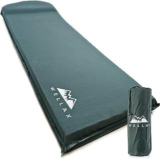 تشک خواب WELLAX UltraThick FlexFoam - تشک کمپینگ 3 اینچی برای کوله پشتی ، مسافرت و پیاده روی - ضخامت 3 اینچ برای ثبات بهتر