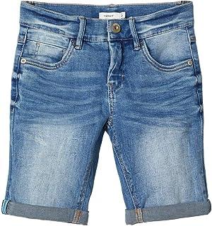 NAME IT Pantalones Cortos de Jean para Niños