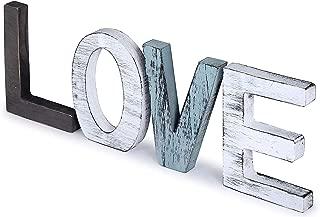 UNIQUELOVER Distressed Wooden Love Signs, Standing Cutout Word Love Sign Wall Decor, Farmhouse Decor, Decorative Letters, Multicolor