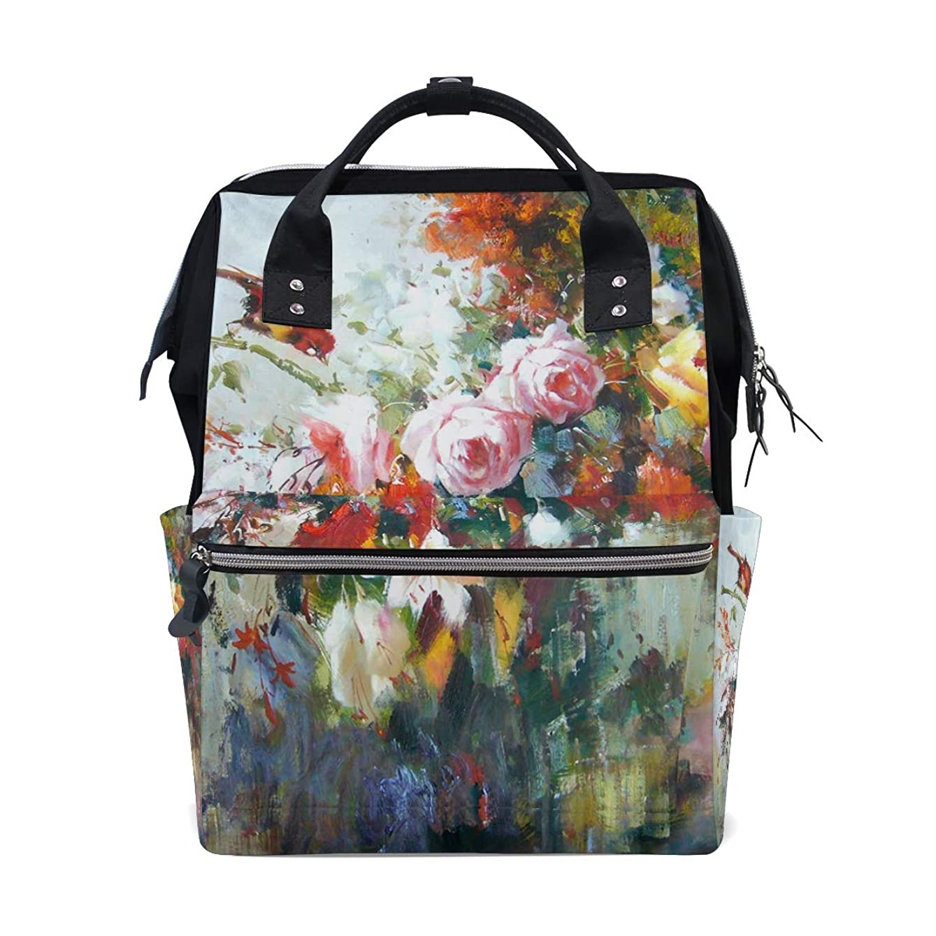 Oil Painting Art Flowers School Backpack Large Capacity Mummy Bags Laptop Handbag Casual Travel Rucksack Satchel For Women Men Adult Teen Children rwzvwn892054