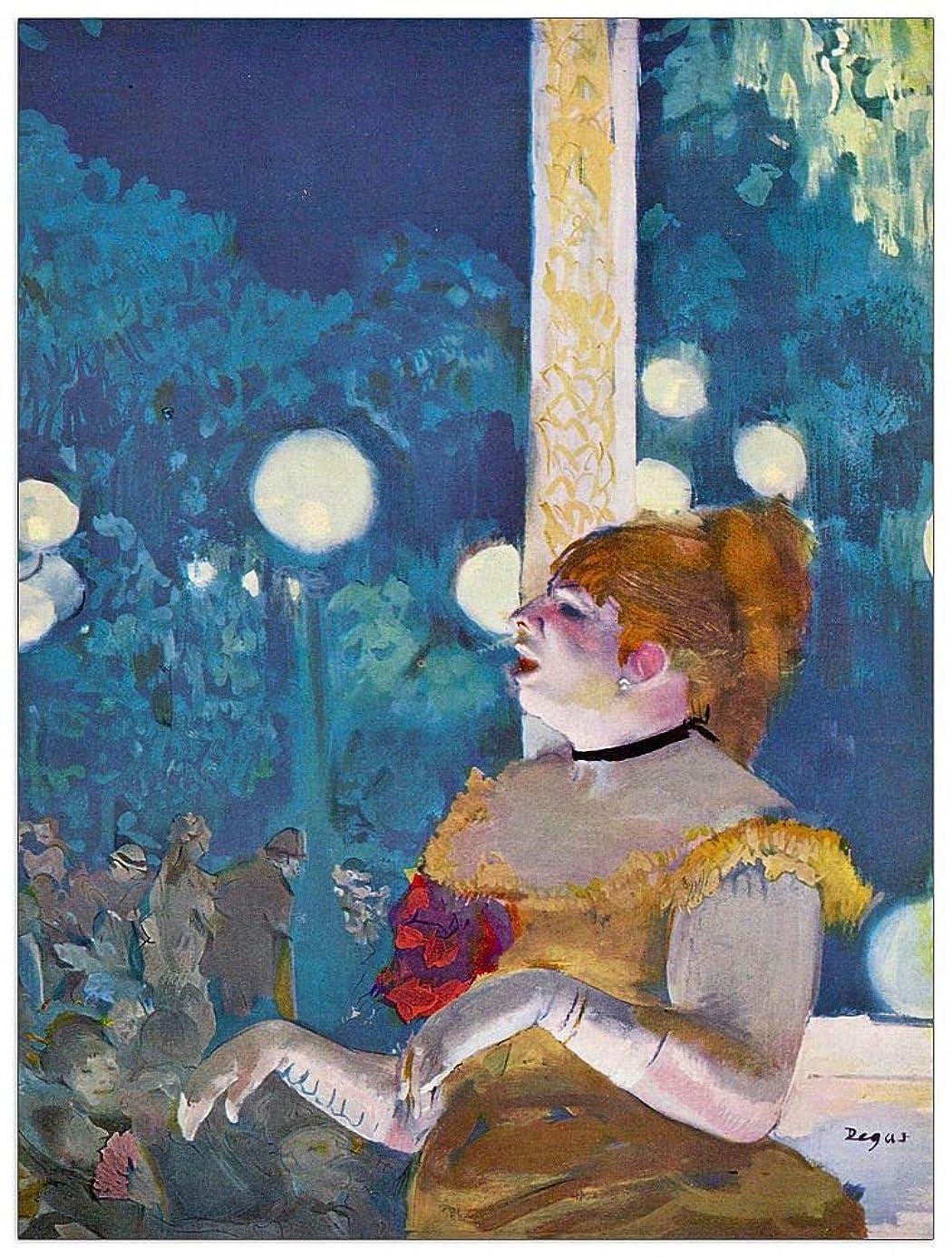 ArtPlaza TW93072 Degas Edgar - in Concert Cafe Decorative Panel 27.5x35.5 Inch Multicolored