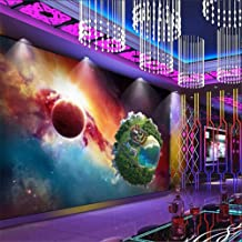 Customize 4D Mural Wallpaper Wall Decoration,Universe Outer Space Earth Creative Series Large Poster Picture Silk Mural Hd Print Wall Painting For Living Room Bedroom Home Decor