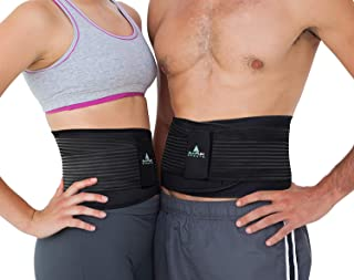 AllyFlex Adjustable Back Brace and Lumbar Support for Women and Men, Orthopedic Back Belt for Lower Back Pain Relief and P...