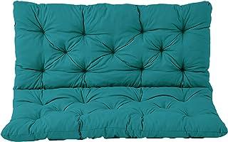 Ambient home Coussin pour Banc de jardin HANKO Bleu 120 x 95 x 8 cm 90572