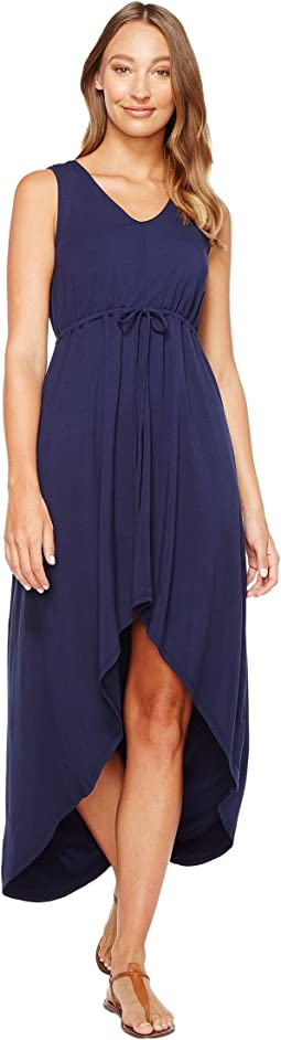 Mod-o-doc - Cotton Modal Spandex Jersey Cinch Waist Hi-Low Hem Tank Dress