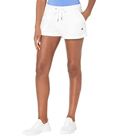 Champion Campus French Terry Graphic Shorts (White) Women