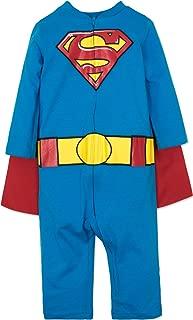 Batman & Superman Baby Boys' Costume Coveralls with Cape