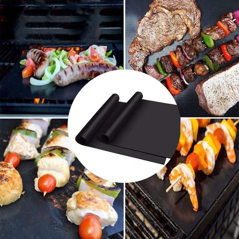 3pcs / 5pcs réutilisables non-Stick BBQ Grill Mat Pad cuisson Meshes Feuille Portable Outdoor pique-nique Barbecue cuisine outil (Color : 3 pcs) 5 Pcs