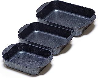 S·KITCHN Lasagna Pan Kit Roasting Pan Set Bread Pan Kit, Casseroles Pans, Roaster Pan Kit Nonstick Bakeware Set, Non-stick...