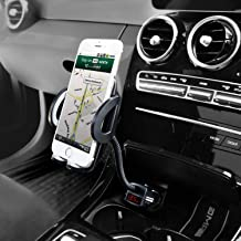 Amoner Phone Holder for Car, Adjustable 4 in 1 Car Phone Mount Cigarette Lighter Cell Phone Car Mount with Dual Port USB Charger Compatible iPhone 11 X 8, iPad, Galaxy S9 S8, Mate20 P30, GPS and More