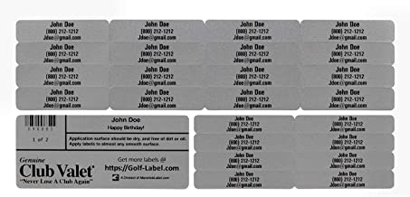 Golf Club Labels – Custom Labels – 24 Classy Golf Valet Labels for Golf Club ID Identification Tags, Golf Shaft Labels, Tools & More – Weatherproof, Fade Resistant Golf Labels Personalized Labels