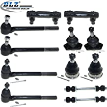 DLZ 12 Pcs Front Suspension Kit-Lower Upper Ball Joint Inner Outer Tie Rod End Adjusting Sleeve (11/16 Inch) Sway Bar Compatible with 1996-2003 RWD Chevrolet S10 GMC Sonoma 1996-2001 GMC Jimmy RWD
