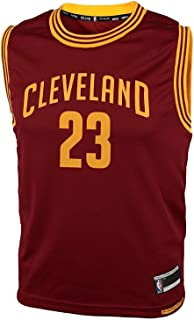 Outerstuff Lebron James Cleveland Cavaliers NBA Kids 4-7 Burgundy Red Road Replica Jersey (Size Small 4)