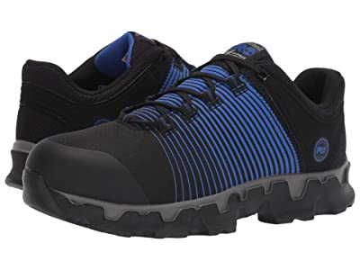 Timberland PRO Powertrain Sport Alloy Safety Toe SD+ (Black Ripstop Nylon/Blue Print) Men