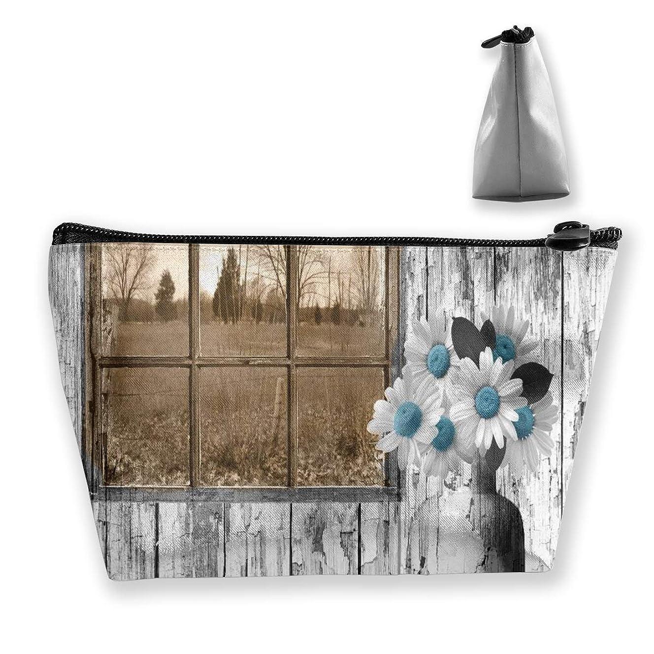 デイジーの花 ペンケース文房具バッグ大容量ペンケース化粧品袋収納袋男の子と女の子多機能浴室シャワーバッグ旅行ポータブルストレージバッグ