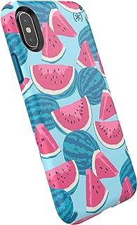 Speck Products, iPhone Xs/iPhone X Case, Presidio Inked, Melon Slice/Porto 蓝色