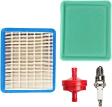 Savior 491588S Air Filter 491435S Pre Filter with Fuel Filter Spark Plug for Briggs and Stratton 491588 4915885 399959 4101 5043B 5043D 5043H 5043K 491435 271933 30-927 John Deere LG491588JD PT15853