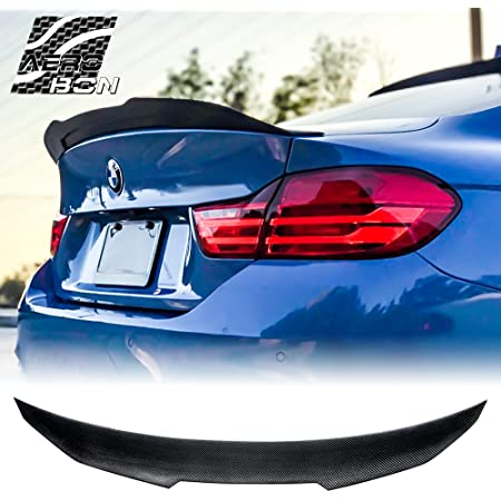 AeroBon Real Carbon Fiber Trunk Spoiler for 2014-2019 BMW F36 4-Series Gran Coupe M4V Style