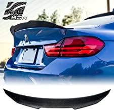 AeroBon Real Carbon Fiber Rear Trunk Spoiler for 13-19 BMW F32 4-Series Coupe (High Kick Style)