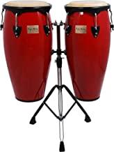 Tycoon Percussion 10 Inch & 11 Inch Congas Red Finish With Double Stand