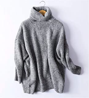 A New Year's Style Women Oversize Basic Knitted Turtleneck Sweater Female Solid Turtleneck Collar Pullovers Warm 2018