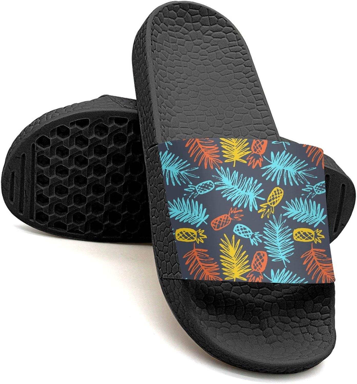 Qiopw rtw Bathroom Shower Non-Slip Sandal Modern Pineapples and Palm Indoor Slipper shoes for Pretty Women