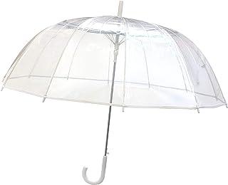 comprar comparacion SMATI Paraguas Largo Transparente 12 Varillas en Forma de Campana con su apuerta automatica(Transparente Blanco)