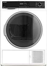 Sharp KD-HHH8S8GW3-DE Wärmepumpentrockner/A / 8 kg/BubbleDrum-Schontrommel inkl. Trommel-Innenbeleuchtung / 15 Trockenprogramme / 30-minütigen Schnellprogramm/Wechselbarer Türanschlag/Weiß