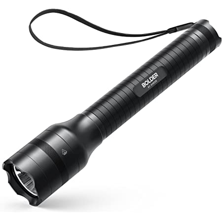 Anker Bolder LC90 2-Cell Rechargeable Flashlight, IPX5 Water-Resistant, Zoomable, LED Torch (for Camping and Hiking) with Super Bright 900 Lumens CREE LED, 5 Light Modes, 18650 Battery Included