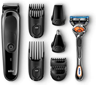 Braun MGK3060?Corta Barbas Hombre?8En1?Recortadora Barba y Cortapelos para Nariz y Orejas, Pequeños Detalles, Cuchillas de Larga Duración, Maquinilla Gillette Fusion5 ProGlide con Tecnología FlexBall