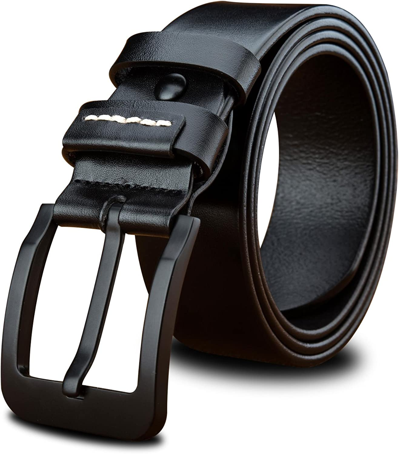 LUCIANO Casual Italy Cowhide Genuine Leather Black & Brown Belt Men's Dress Belts