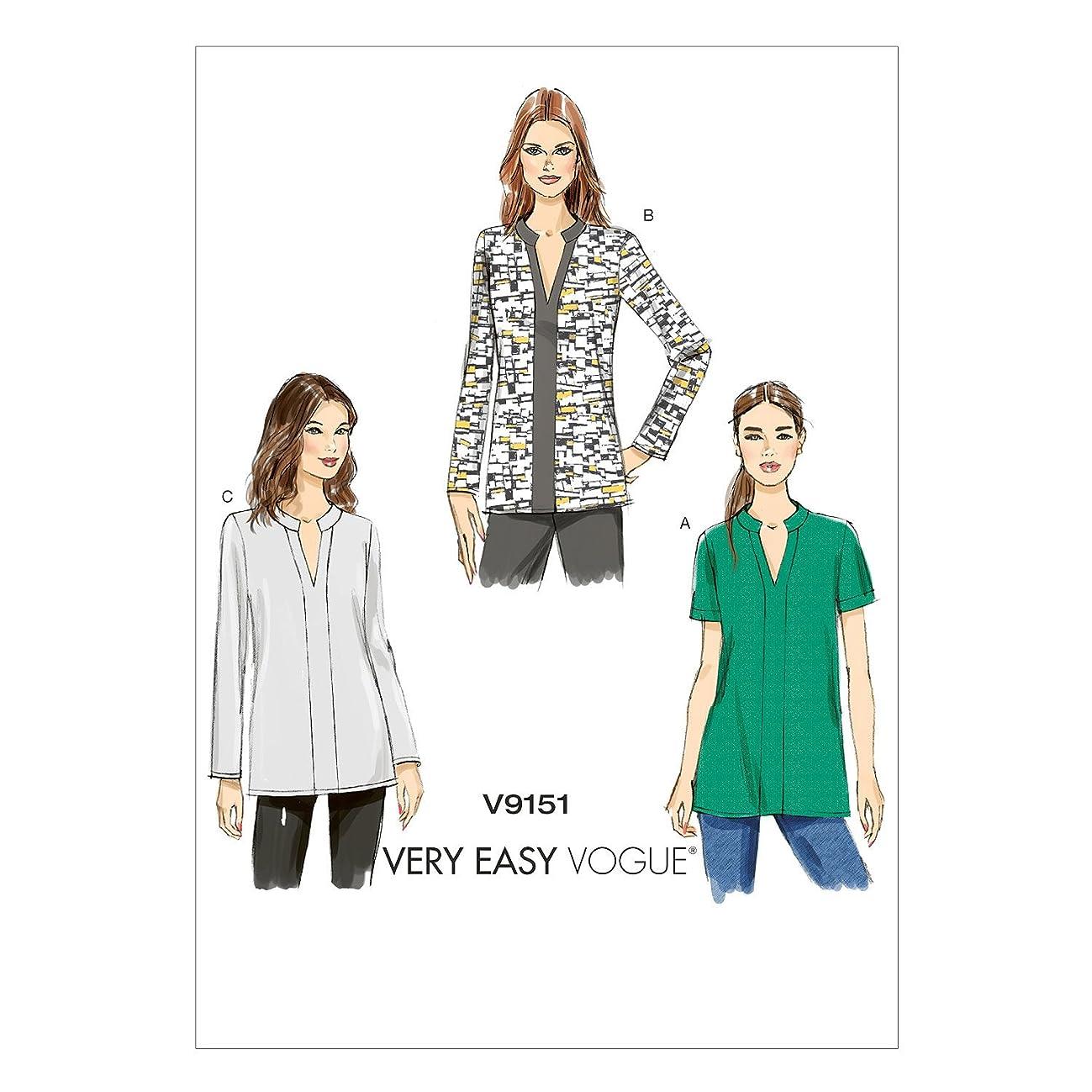 Vogue Patterns V9151 Misses' Tunic, Y (X-Small-Small-Medium)
