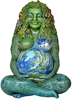 (Earth Green) - Ebros Gift Millennial Gaia Earth Mother Goddess Te Fiti Statue 18cm Tall By Oberon Zell (Earth Green)