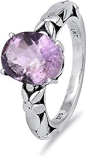 Orange Mystic Topaz, Red Garnet, Pink Tourmaline, Purple Amethyst 2.33 Ct Oval 925 Sterling Silver Filigree Ring Easter Pr...