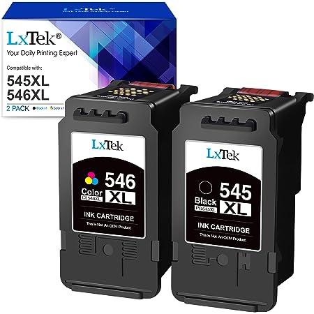 LxTek Cartouches d'encre Remplacement pour Canon PG-545 CL-546 XL pour Pixma MX495 MX490 iP2800 iP2850 MG2450 MG2550 MG2950 MG2550S MG2950S MG3051 (Noir Tri-Couleur, 2-Pack)