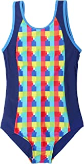 Big Girls Check One Piece Swimsuit