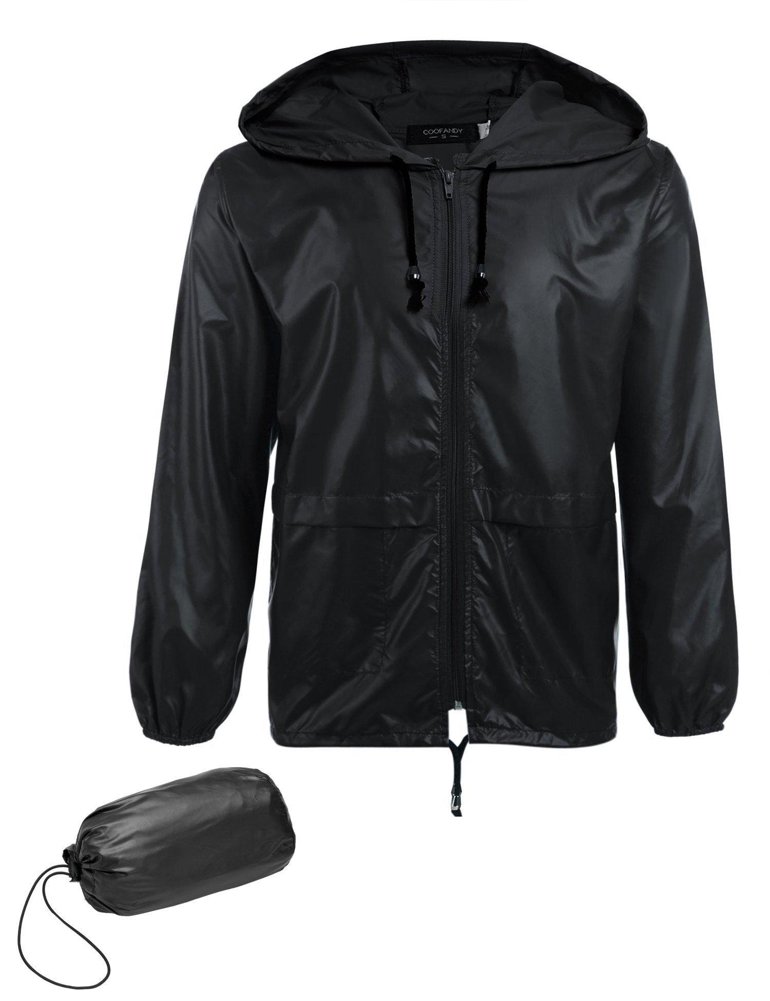 COOFANDY Packable Waterproof Lightweight Raincoat