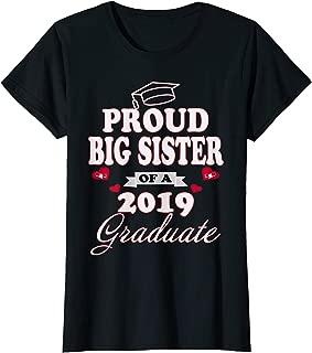 Womens Proud Big Sister Of A Class 2019 Graduate Graduation T-Shirt