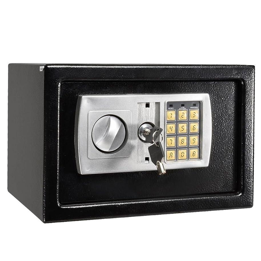 包囲比喩約設定すべてGoodly 12.5インチ電子デジタルロックキーパッドセーフボックス現金ジュエリーGun Safeブラック