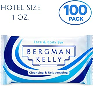 BERGMAN KELLY Travel Soap Bars (White Tea, 1 oz, Rectangle 100PK), Travel Size Luxury Bulk Hotel Bar Soap; Small Individually Wrapped Soap Hotel Toiletries for Airbnb, Motel, Guest Bathroom